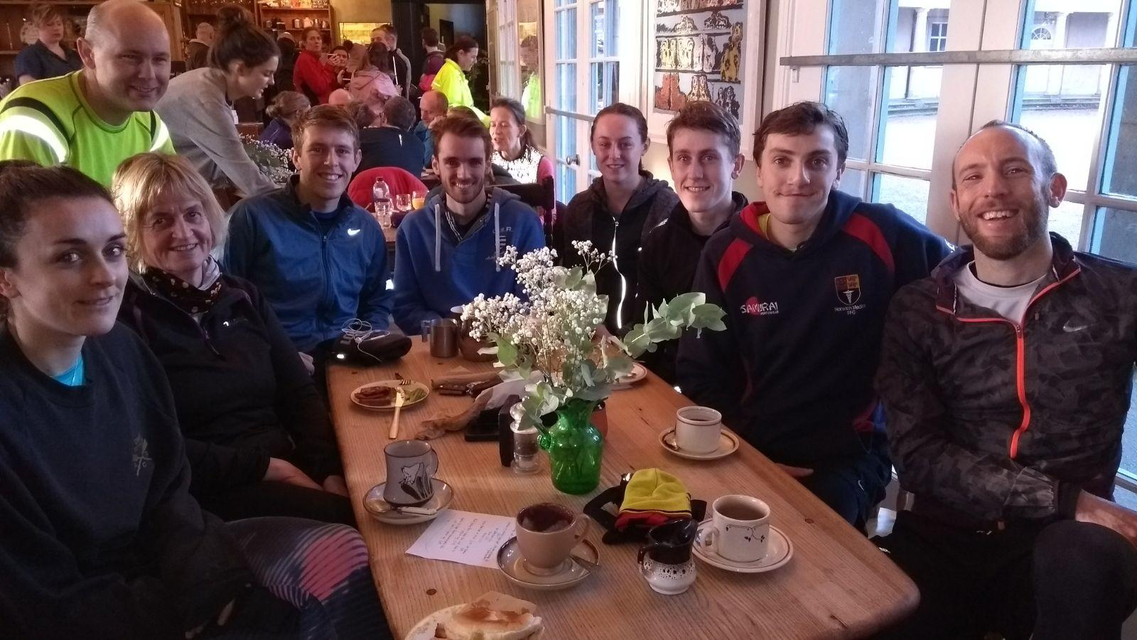 First team gathering at Eaton Parkrun, Norwich